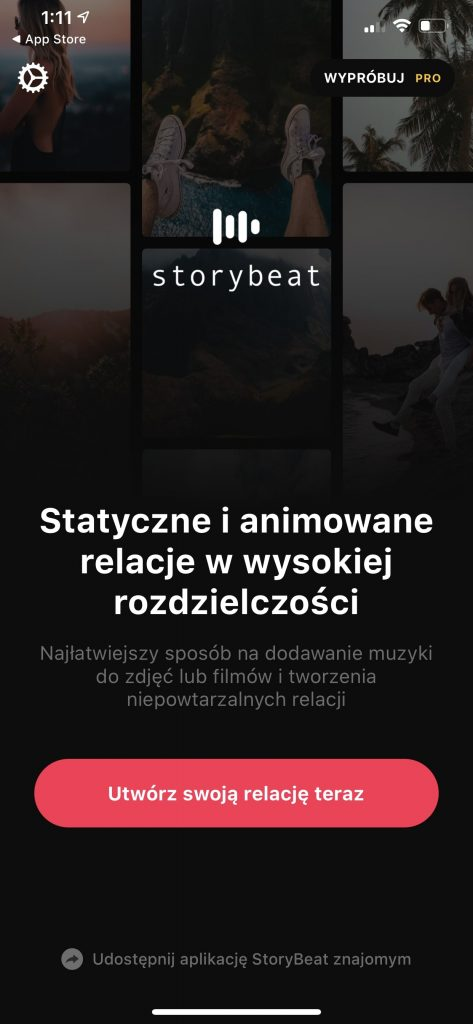 Storybeat jak dodać muzykę do relacji insta