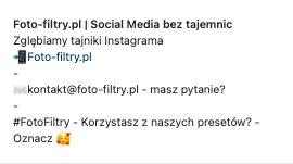 Gdzie jest bio na instagramie