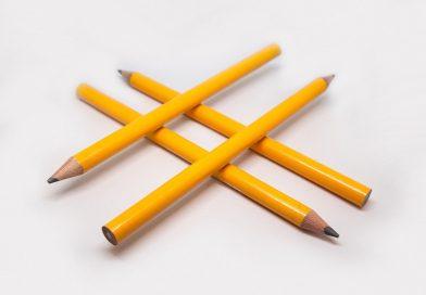 Co to jest hasztag? - ołówków ustawione w kształt #
